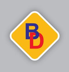 Bd type logo design vector