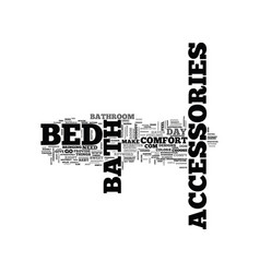 Bed and bath accessories text word cloud concept vector