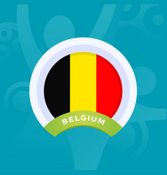 belgium flag european football 2020 tournament vector image