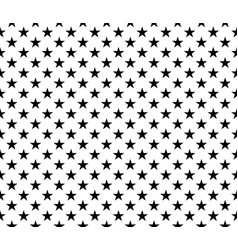 Black white seamless pattern stars background vector