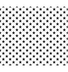 black white seamless pattern stars background vector image