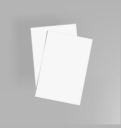 Blank clear a4 flyer or invitation mockup template vector