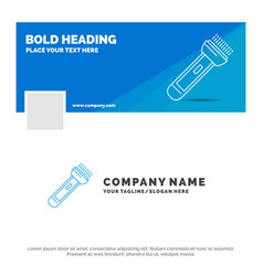 blue business logo template for torch light flash vector image