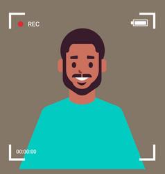 camera screen frame viewfinder rec african vector image