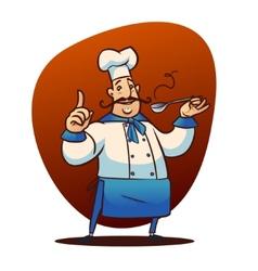 cartoon cook character vector image