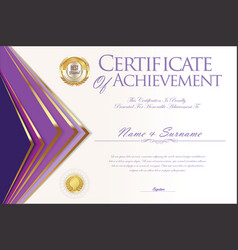 certificate or diploma design template 5 vector image
