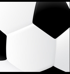 close up of classic black and white soccer ball vector image