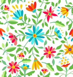 color flower seamless pattern spring vector image