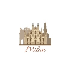 colored template with composition of Milan vector image