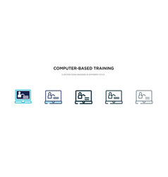 Computer-based training icon in different style vector