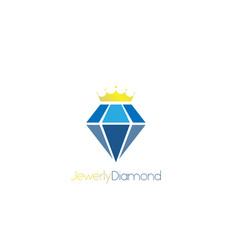 Crwon diamond beauty logo vector