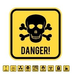 Danger skull vector