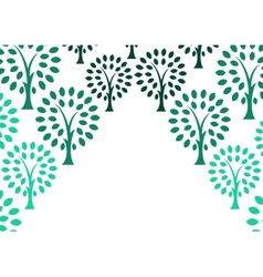 Decorative tree background vector