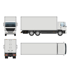 delivery truck template vector image