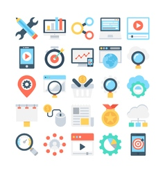 Digital Marketing Colored Icons 3 vector image