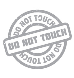 Do Not Touch rubber stamp vector
