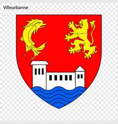 Emblem villeurbanne vector