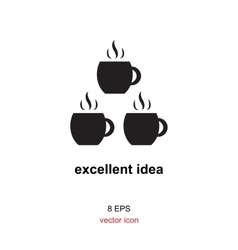 Exellent idea icon vector image