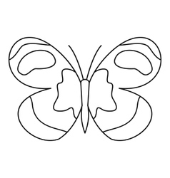 Figured butterfly icon outline style vector