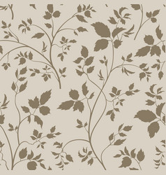 Floral seamless pattern branch with leaves vector