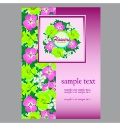 Flower card space for your text for business needs vector