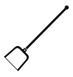 Garden shovel icon simple style vector