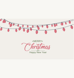 Glowing lights for christmas xmas card design vector