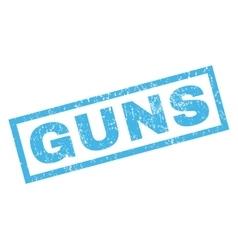 Guns Rubber Stamp vector