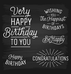 hand drawn lettering slogans for birthday vector image
