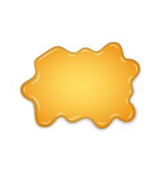 honey splash yellow drip liquid isolated white vector image