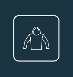 hoodie outline symbol premium quality isolated vector image vector image