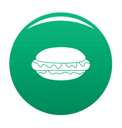 hot dog icon green vector image