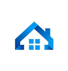 House icon abstract simple realty logo vector