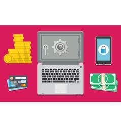 Internet banking is safe vector image