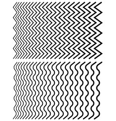 Irregular lines set of distorted lines from thin vector