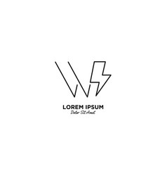 Letter w flash logo design vector
