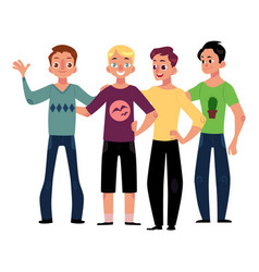 male friendship concept of boys men friends vector image
