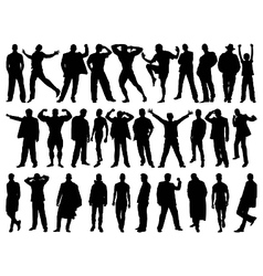 Male model silhouettes vector