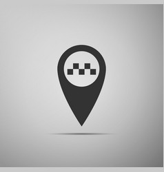 map pointer with taxi icon isolated vector image
