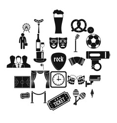 occasion icons set simple style vector image