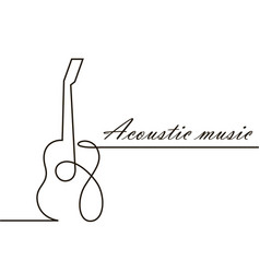 One line guitar image vector