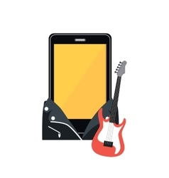 Phone in a black leather jacket vector