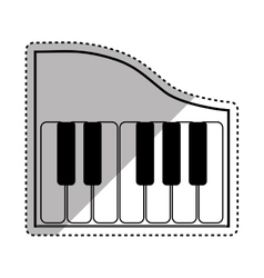 piano music instrument vector image