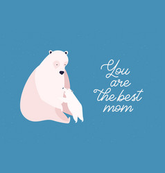 polar big and little bears flat vector image