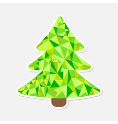Polygonal Christmas tree Isolated vector image