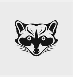 raccoon icon logo vector image