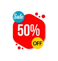 Sale 50 off template design vector