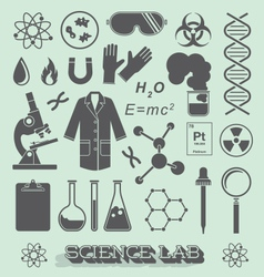 Scientist Lab Icon and Symbols vector image