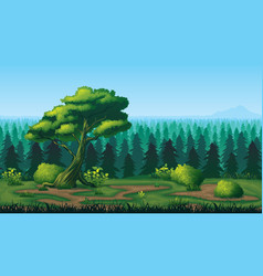 seamless background of landscape with deep fir vector image
