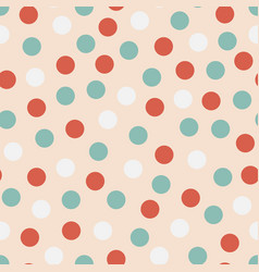 seamless colorful pattern - childish dotted vector image